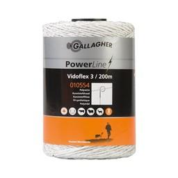 Vidoflex 3 PowerLine 200 m - White