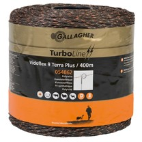 Gallagher Gallagher Vidoflex 9 TurboLine Plus 400 m - Terra