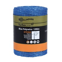 Gallagher Gallagher TurboLine Blue Polywire 200m