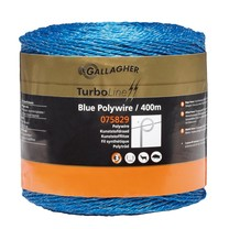 Gallagher Gallagher TurboLine Blue Polywire 400m