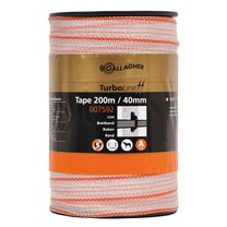 Gallagher Gallagher TurboLine tape 40mm White 200m