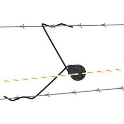 25x Gallagher Offset Pinlock Insulator 30 cm - Black