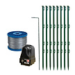 Mains Powered Electric Fence Kit for Pond Protection with Galvanised Wire