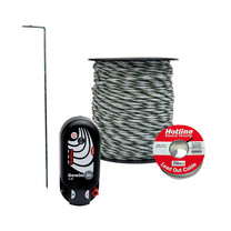 Hotline Hotline 200m MAINS Electric Fence Kit Standard Post & Rail Protector Kit 4