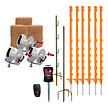 Electric Fencing Kit for Badgers with 3 Reels - 250m