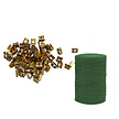 100 pcs. Net Ferrules and 100m Green Polywire