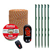 Electric Fencing Mains or Battery powered  kit for cats - 1.2J/ 12V