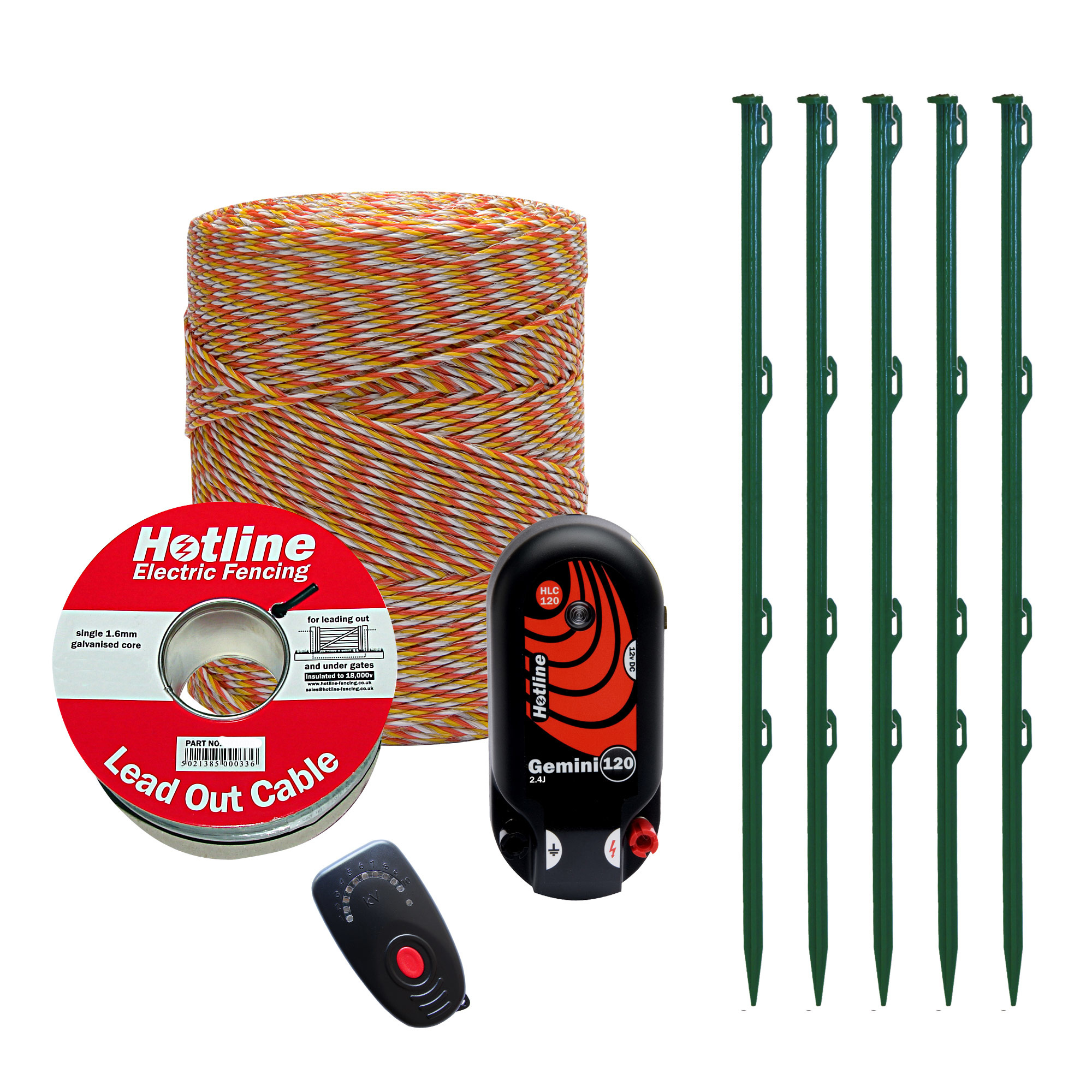 Hotline Mains Or Battery Powered Electric Fencing Kit For