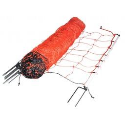 EuroNetz Sheep Netting 90 cm | 50 m Double Pin - Orange