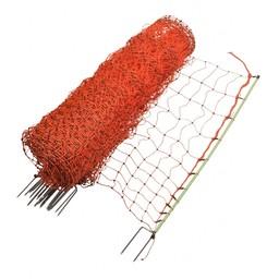 Poultry Netting 112 cm |50 m Double Pin - Orange
