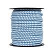 Elastic Cord | 50 m - White/Blue