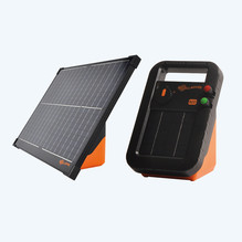 An energiser that works on solar power is the best choice for remote areas. The battery is charged by daylight and converts it into electricity. Discover our range of Gallagher and Hotline solar powered energisers below.