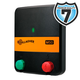 M50 Mains Powered Electric Fence Energiser/Charger (230V)