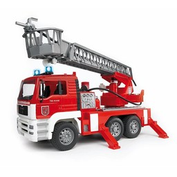 MAN Fire engine with ladder and waterpump