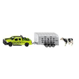 Siku RAM 1500 truck with cattle trailer 1:50