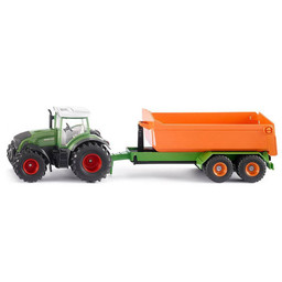 Fendt with Joskin hooklift trailer and carriage 1:50