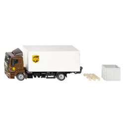 MAN Truck with box body and tail lift