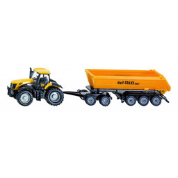 JCB 8250 with dolly and tipping trailer