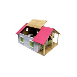 Horse corner stable with 3 boxes and storage