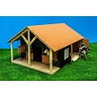 Horse stable with 2 stalls and storage
