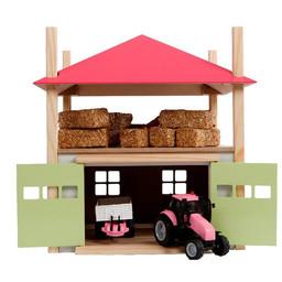 """Haystack with storage pink """