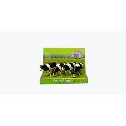 Cow 1:50 black/white standing 4 pcs