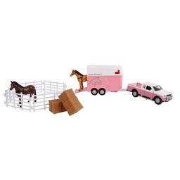 Kids Globe Mitsubishi with horsetrailer and accessoiries