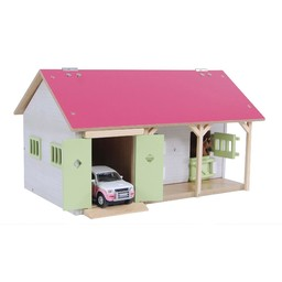 Kids Globe Horse stable with 3 boxes and storage 1:32