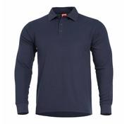 Pentagon Aniketos Polo Long Sleeve Shirt (Navy Blue)