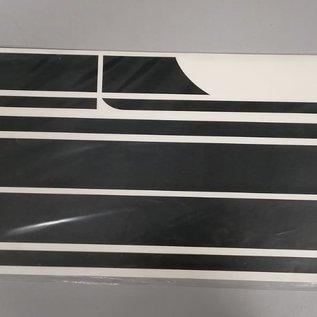Stickerset sportstriping matzwart NIU NQI