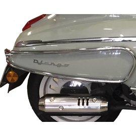 Peugeot Achtervalbeugels chroom Django