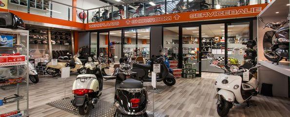 Scootfix Scooters Zwijndrecht showroom