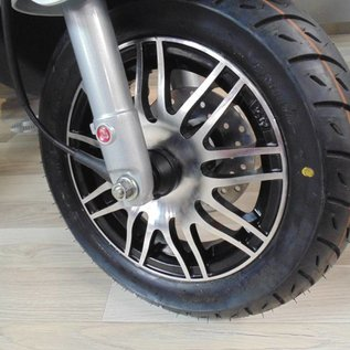 Sportvelgen zwart glans / aluminium Piaggio Zip