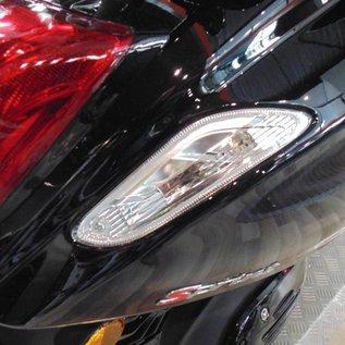 Vespa LED richtingaanwijzer set achter blank Vespa Primavera/Sprint + weerstandkabels