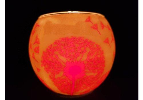 Leuchtglas Windlicht Paardenbloem