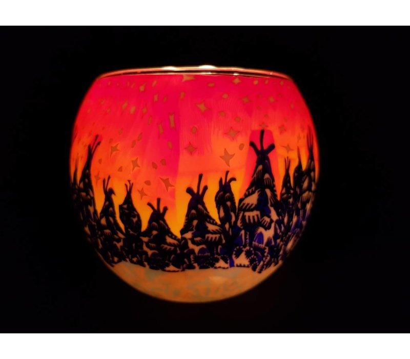 Leuchtglas Winterwald