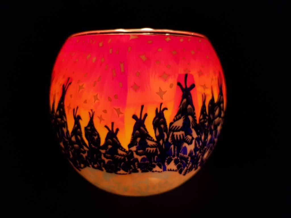 Leuchtglas Leuchtglas Winterwald