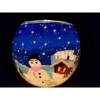 Leuchtglas  Schneemann