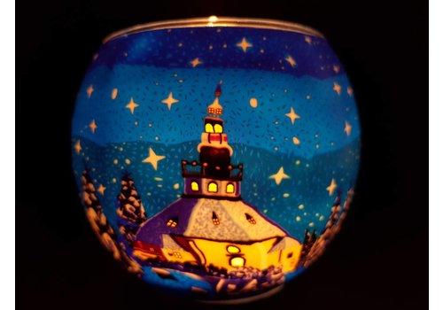 Leuchtglas Leuchtglas Kirche Seiffen