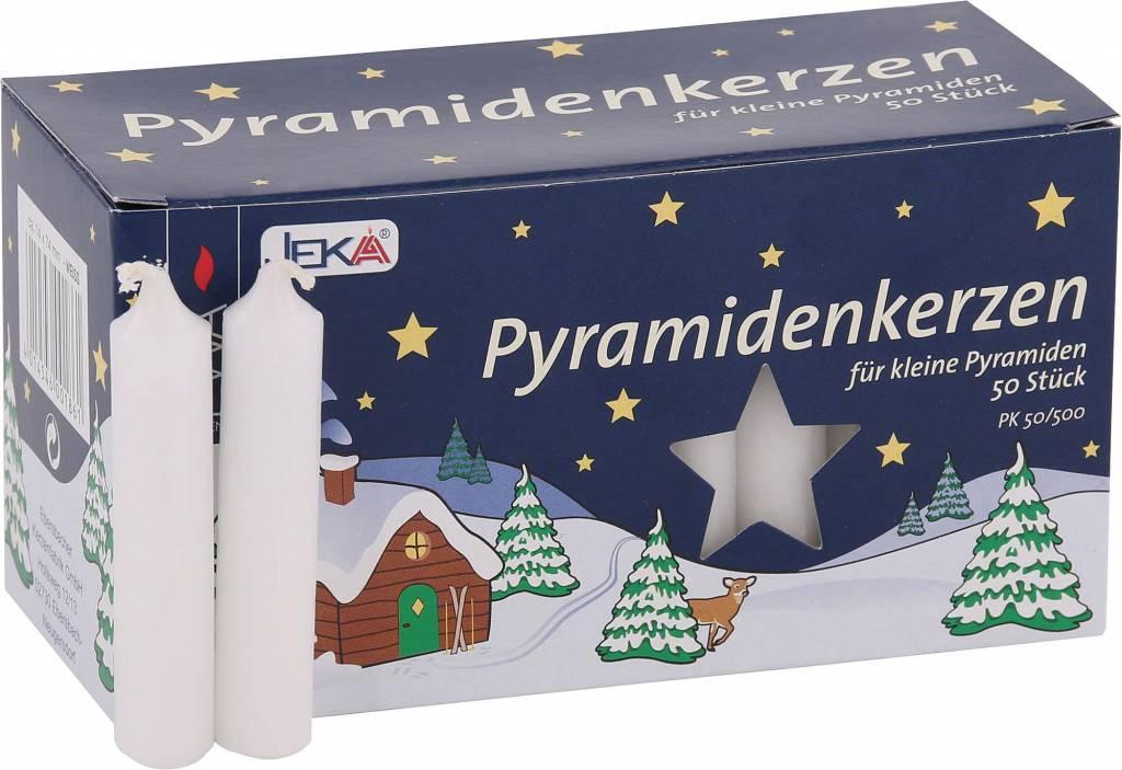 Pyramiden Kerzen Wit