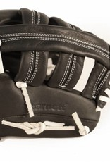 """GL-130 Competition baseball glove, genuine leather, outfield 13"""", Black"""