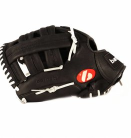 "GL-130 Competition baseball glove, genuine leather, outfield 13"", Black"