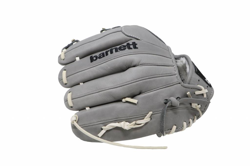 """FL-115 baseball glove, high quality, leather, infield/outfield 11"""", light gray"""