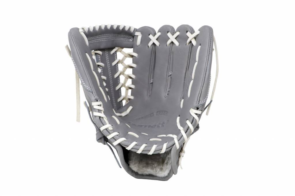 "FL-125 "" high quality leather baseball glove, infield / outfield / pitcher, light grey"