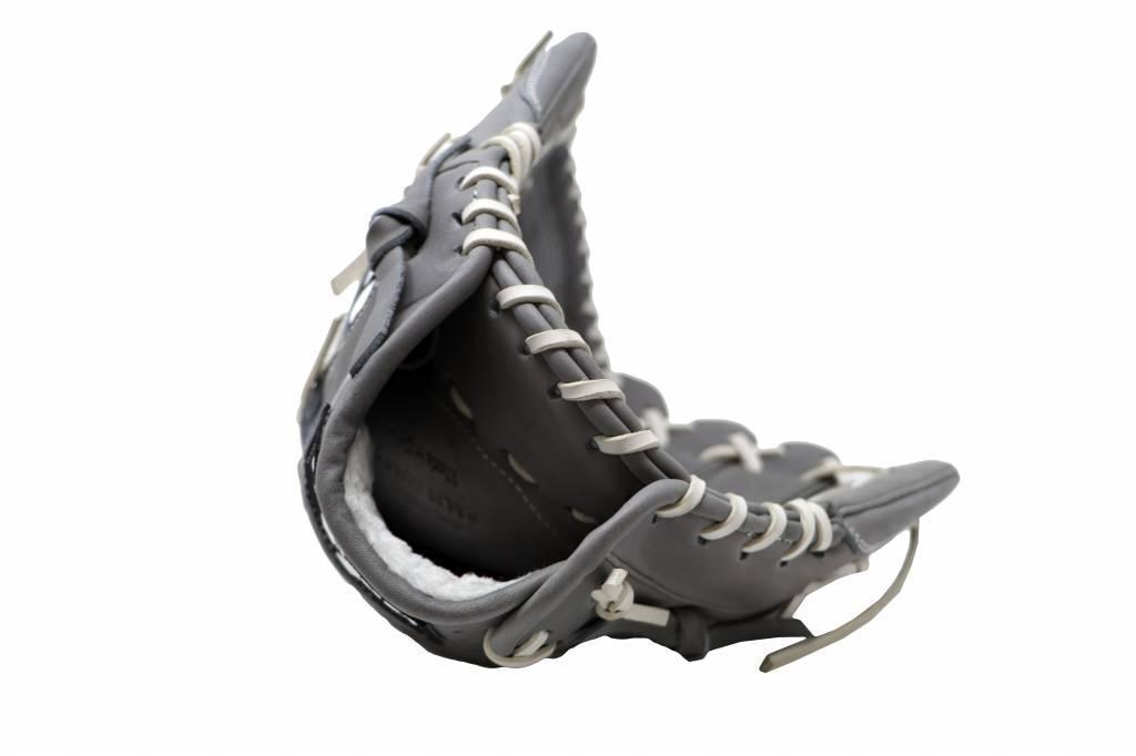 "FL-125"" gant de baseball cuir haute qualité infield/outfield/pitcher, gris clair"