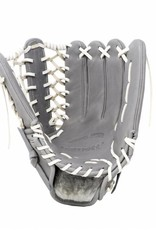 "FL-127 "" high quality leather baseball glove, infield / outfield / pitcher, light grey"