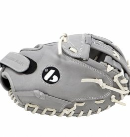 "FL-201 "" baseball glove, high quality, leather, catcher, light grey"