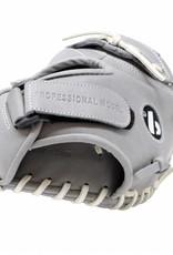 "FL-201 "" baseball glove, high quality, leather, catcher, light grey"