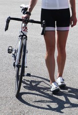 Bike textile - black & white cycling shorts
