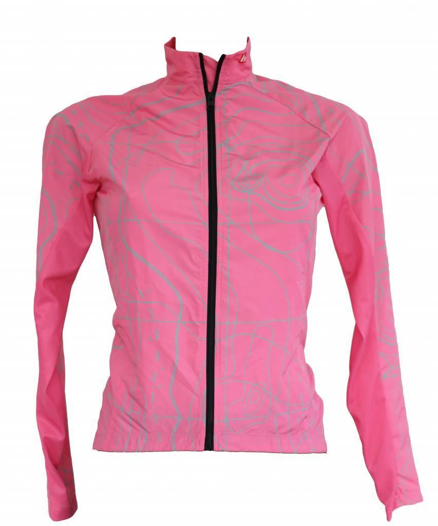 Bike textile - long-sleeved jacket, pink, windbreaker